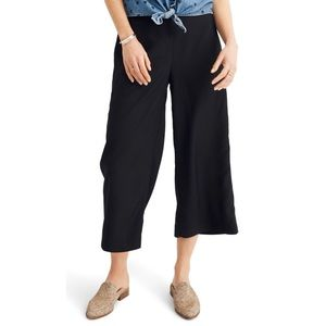 MADEWELL Huston Black Pull On Cropped Pants